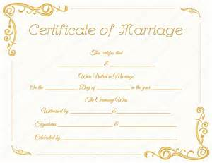 marriage certificate templates free standard marriage certificate template dotxes