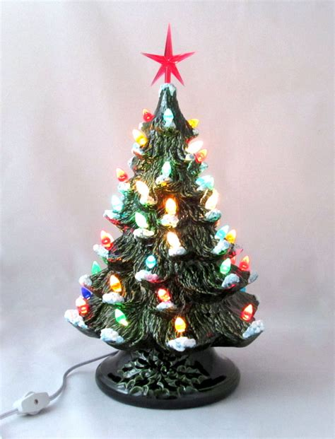 ceramic medium vintage style pine christmas tree wendy s