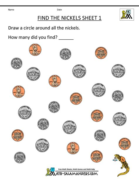 Coin Identification Worksheet by Identify Coins Worksheet Abitlikethis