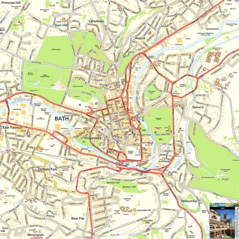 map bathrooms bath offline street map including the roman baths abbey