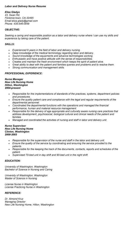Labor And Delivery Nurse Resume Exles Exles Of Resumes Labor And Delivery Resume Templates