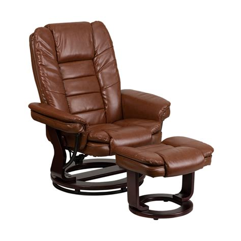 Vintage Leather Recliner Contemporary Brown Vintage Leather Recliner And Ottoman Bt 7818 Vin Gg Ebay