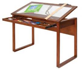 Glass Top Drafting Drawing Table Studio Designs Ponderosa Glass Topped Craft Table 13280