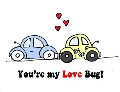 My Lovely Bettle you re my bug i you card with two vw beetle bug