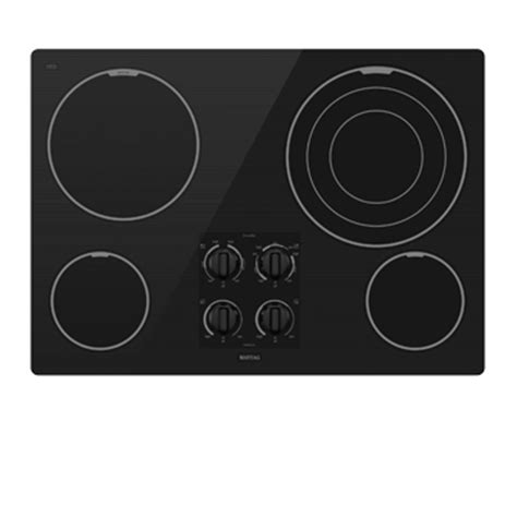 Maytag Cooktop Knobs by Maytag Mec7630wb 30 Quot Electric Cooktop Power Center With A