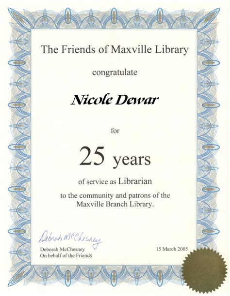 certificate for years of service template 10 best images of 30 years of service certificate years