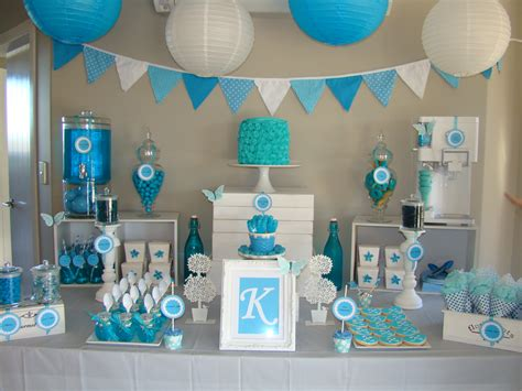 baby shower table blue themed dessert table baby shower dessert table babies and babyshower