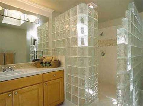 glass block bathroom shower ideas glass block wall design ideas adding unique accents to eco