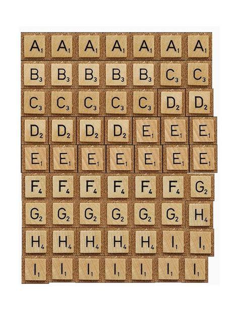 Tutorial Printables Faux Scrabble Letters Print