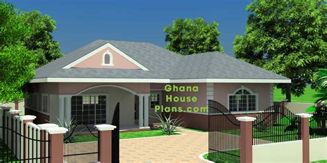 4 Bedroom Country House Plans by Ghana House Plans Abbey House Plan