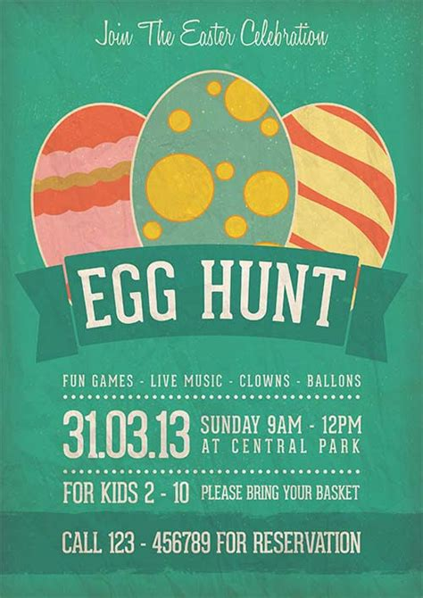 easter flyer template egg hunt easter celebration flyer template link