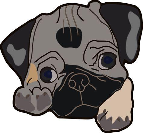 pug clip clipart pug