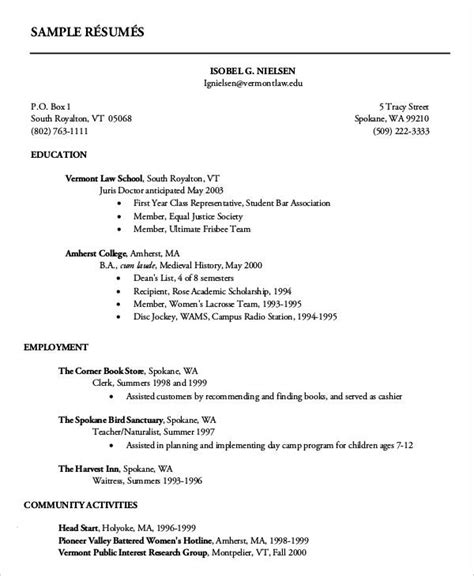 Exle Of Curriculum Vitae For Application by Curriculum Vitae Basico Cover Letter Exle 28 Year Resume