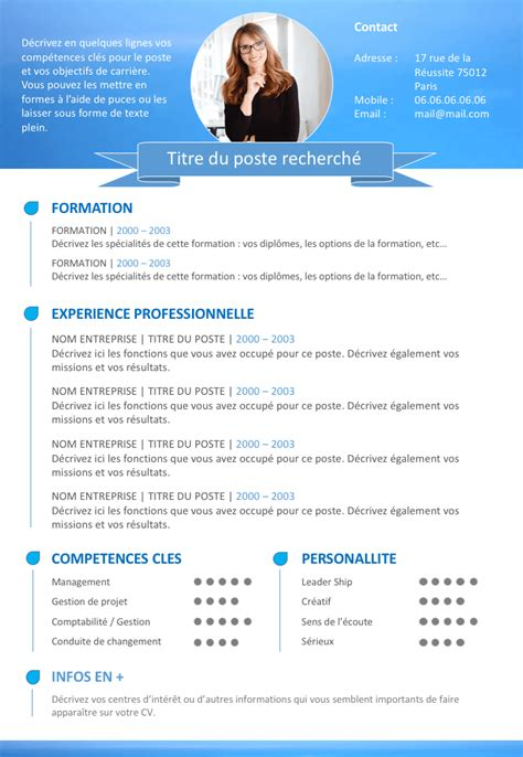 Exemple Cv Word 2016 by Exemple De Cv Professionnel 2016 Modele Cv Word Gratuit