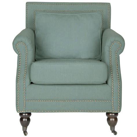 blue arm chairs safavieh karsen sky blue cotton blend club arm chair