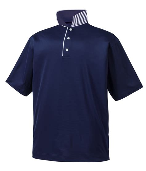 footjoy mens stretch lisle solid tipping polo shirt 2014