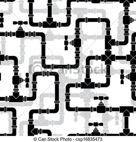 design pattern pipeline vectors illustration of seamless pattern with water