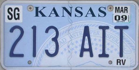 Kansas Vanity Plates Kansas Y2k