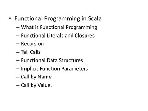 scala pattern matching tail recursion apache park scala online trainings course content