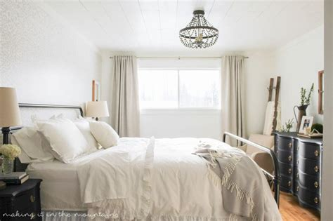 farmhouse bedroom budget friendly master bedroom makeover inspiration