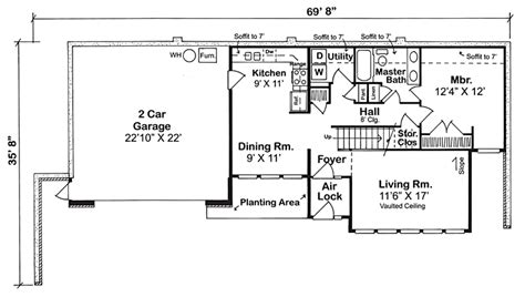 Berm House Floor Plans by Gallery Earth Sheltered Home Plans With Basement