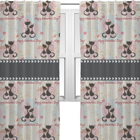 Cat Kitchen Curtains Cats In Curtains 20 Quot X54 Quot Panels Lined 2 Panels Per Set Personalized Youcustomizeit