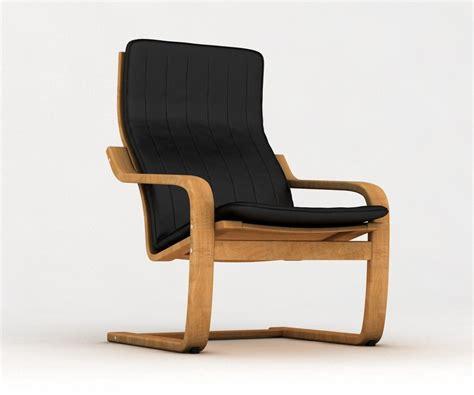 ikea poang armchair ikea poang armchair 3d model
