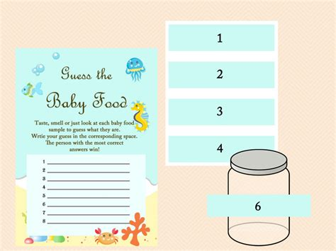 Free Baby Food Jar Label Template