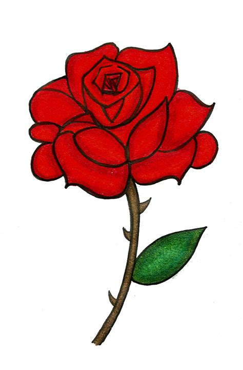 rose tattoo clipart colored by starflower135 on deviantart