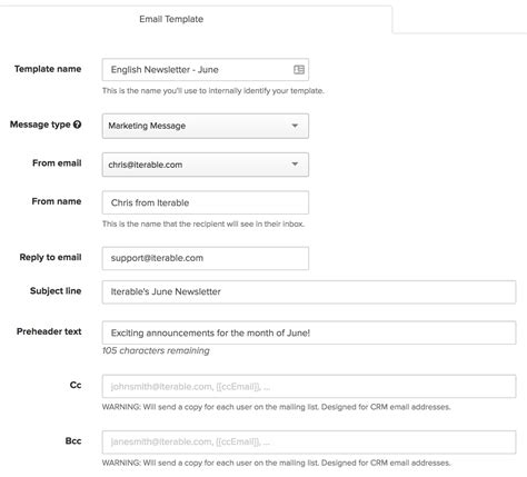 How To Create Email Caign Template Template Overview Iterable Support Center