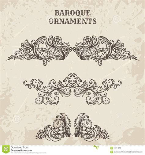 free baroque design elements vector antique and baroque cartouche ornaments vector set