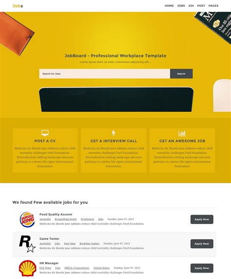 blogger templates for jobs jobs listing blogger template 187 abtemplates com