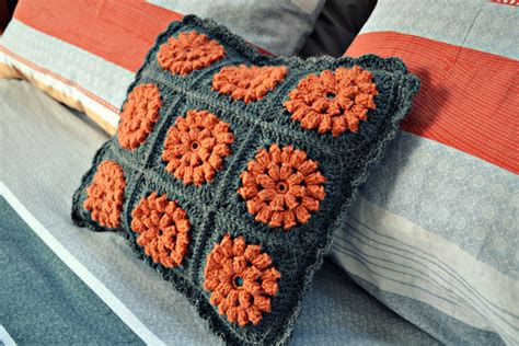Orange Duvet Cover Uk A Crochet Cushion For Our Bedroom The Green Dragonfly