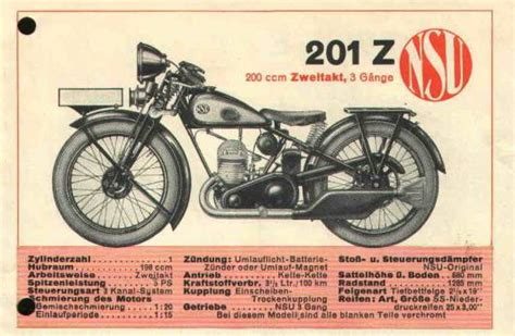 Motorrad Nsu Modelle by Nsu Z Modelle