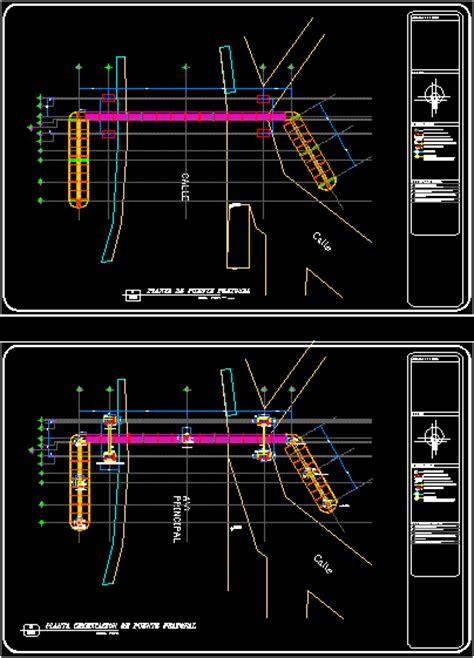 structural detail   footbridge dwg detail  autocad