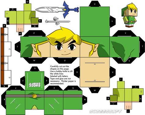 Papercraft Link - papercraft on paper toys mario and