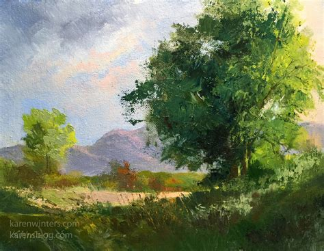 landscape painting winters california impressionist paintings