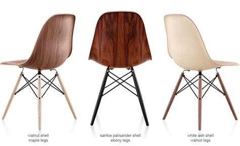 Philippe Starck Chair Eames 174 Molded Wood Side Chair With Dowel Base Hivemodern Com