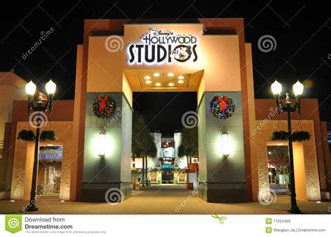 hollywood studios gate price gate of disney hollywood studios at night editorial stock