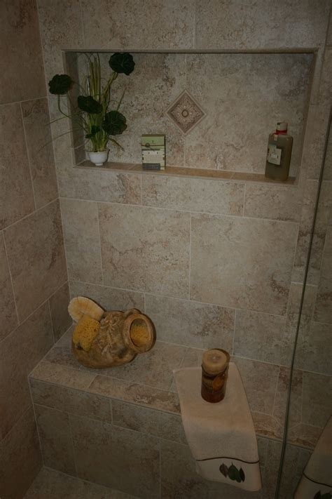 built in shower seat built in shower seat and niche bathrooms