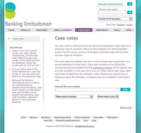ombudsmann bank banking ombudsman nz colin eyre