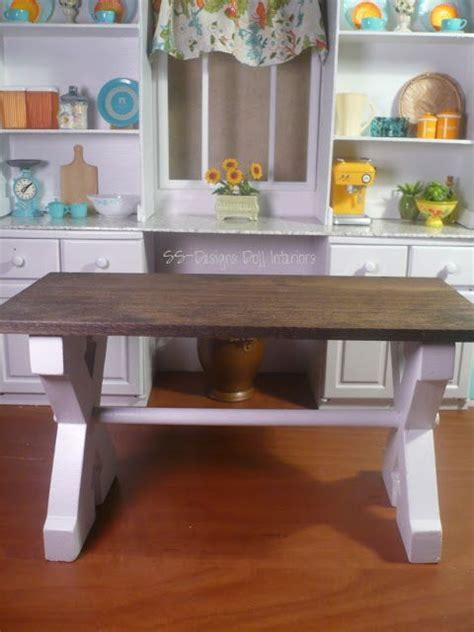 barbie craft project farmhouse table barbie house