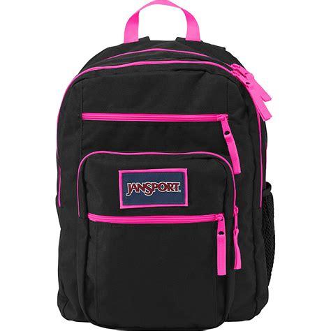 Black Pink Student Costume jansport big student overexposed school backpack black