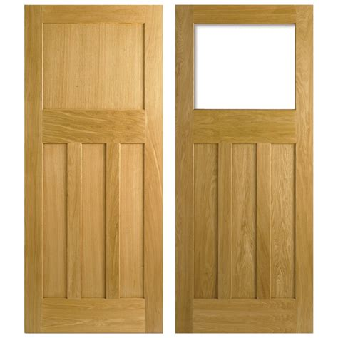 Lpd Nostalgia 1930s Style One Over Three Panel White Oak 1930 Interior Doors