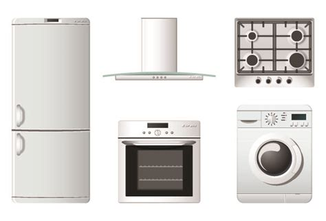 free kitchen appliances household appliances icons vector free vector 4vector