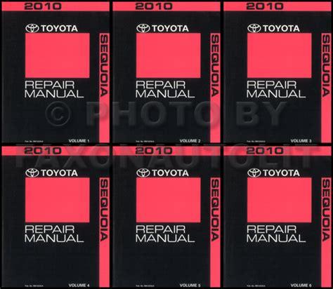 2010 toyota camry hybrid repair shop manual original 4 volume set 2010 toyota sequoia repair manual 6 volume set original oem repair service books ebay