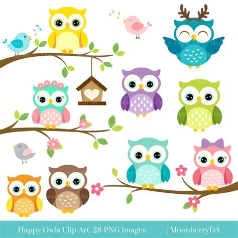 owl clipart happy owls clip digital owls clipart owls