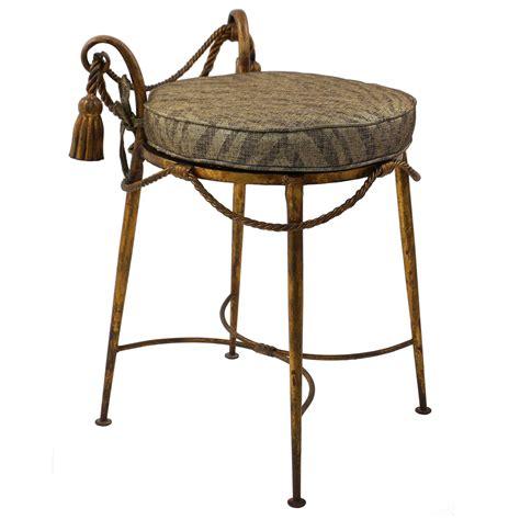 metal vanity bench metal vanity stool hollywood regency vintage 1950s gilt