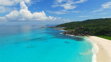 aerial view landscape  tropical paradise beach coast