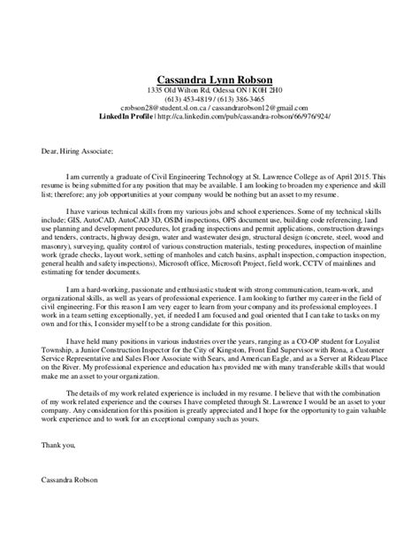 cassandra lynn robson resume and coverletter civil